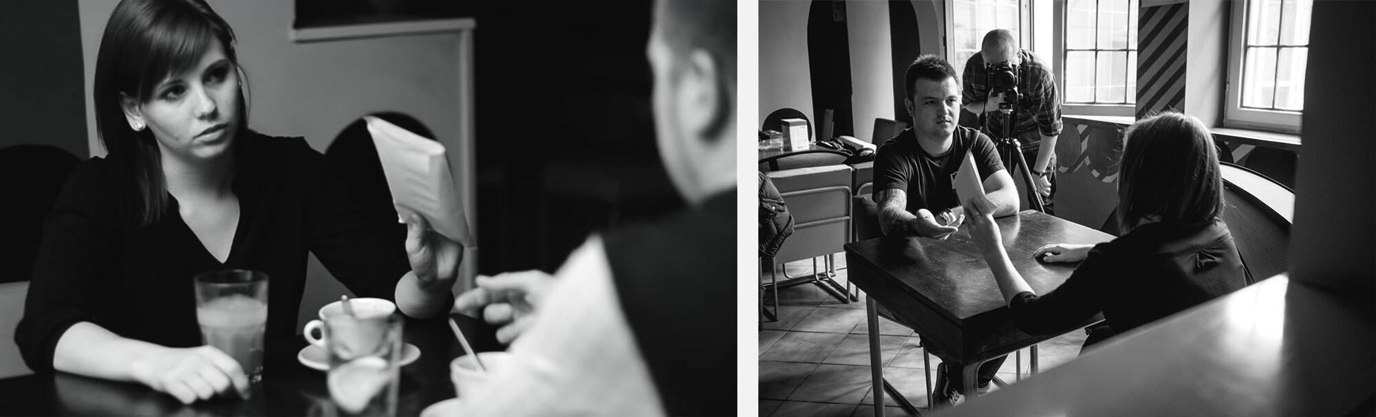 Bal oldalon a klipből egy képkocka látható, míg jobb oldalon a werkfotó.
