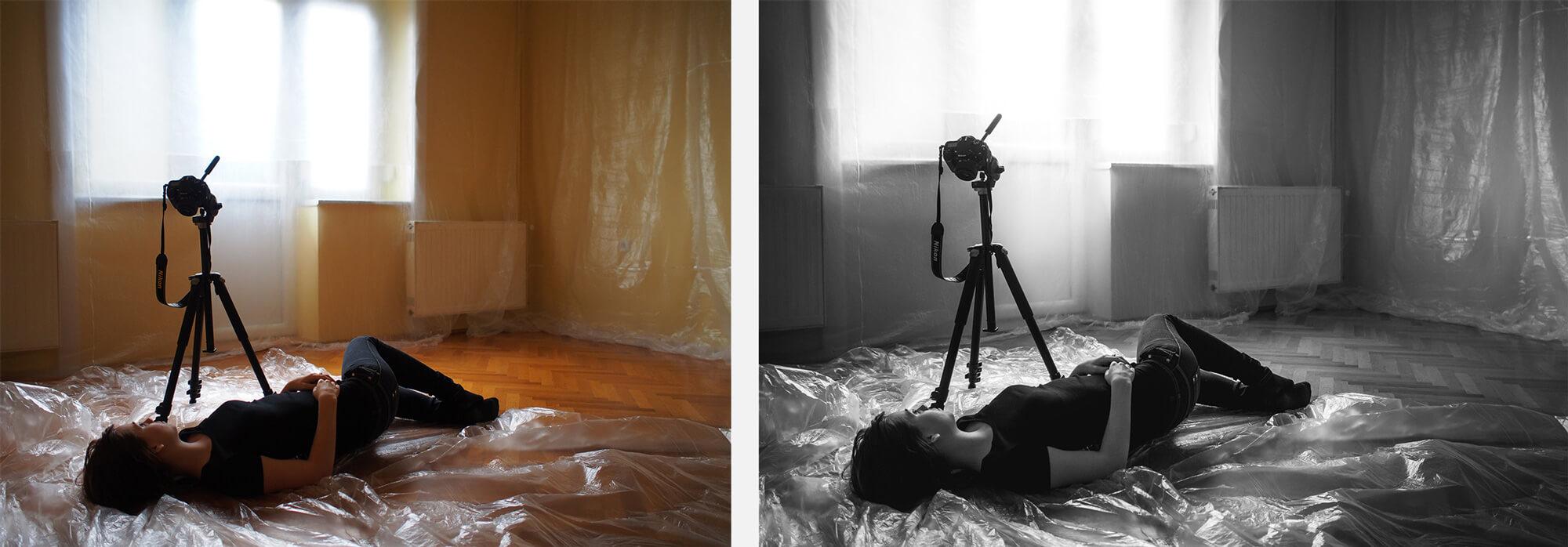 Bal oldalon az eredeti kép és jobb oldalon a feldolgozott.