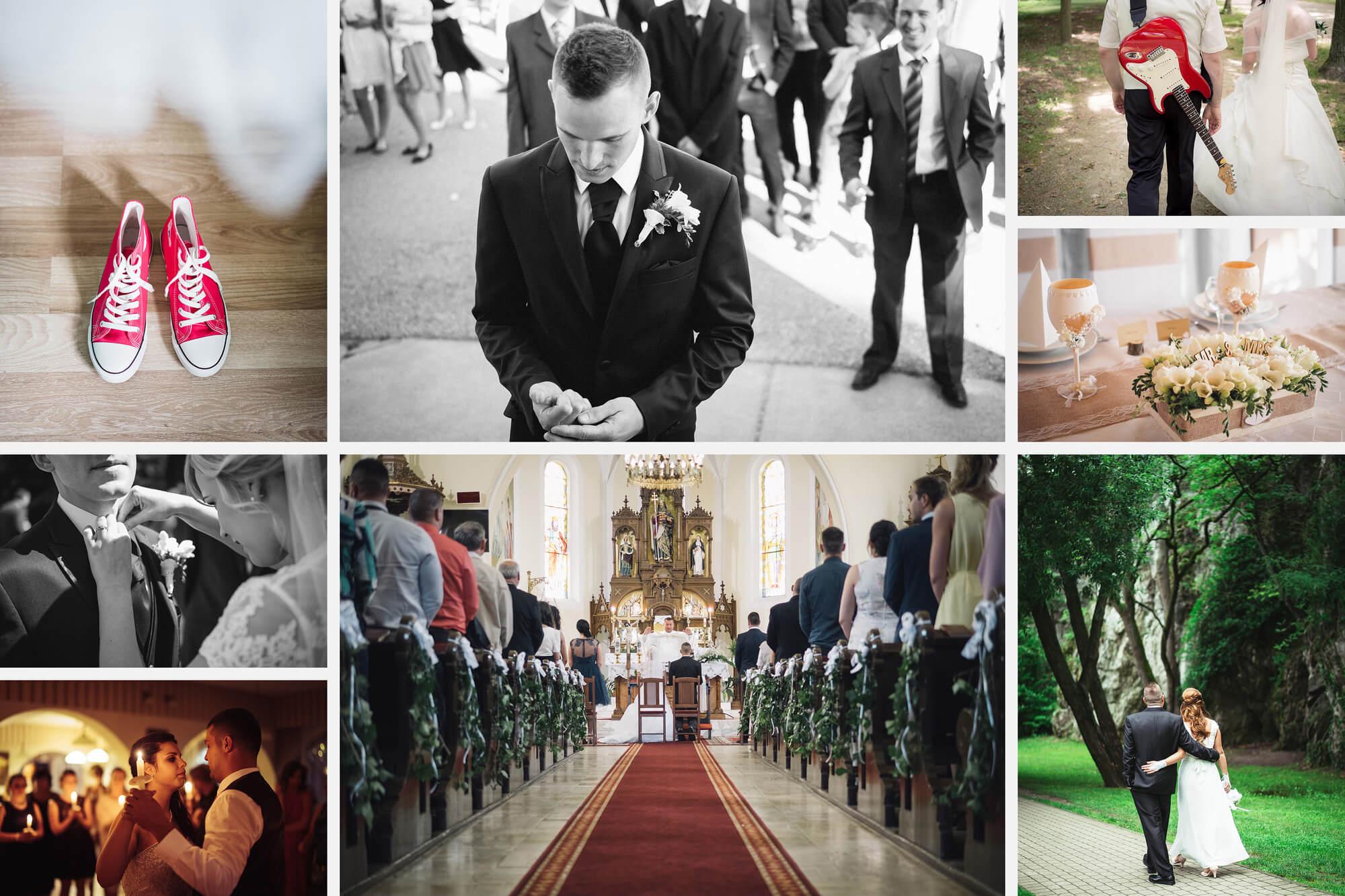 Esküvőfotózás kollázs
