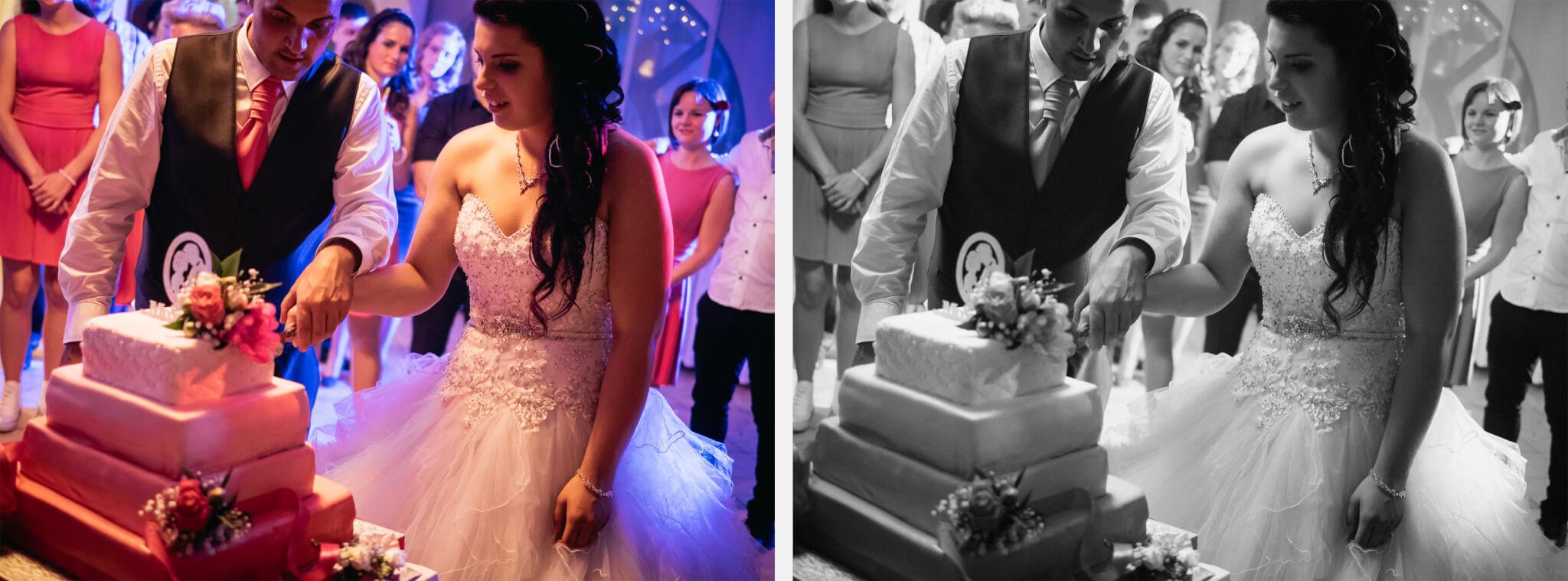 Fekete-fehér esküvői képek